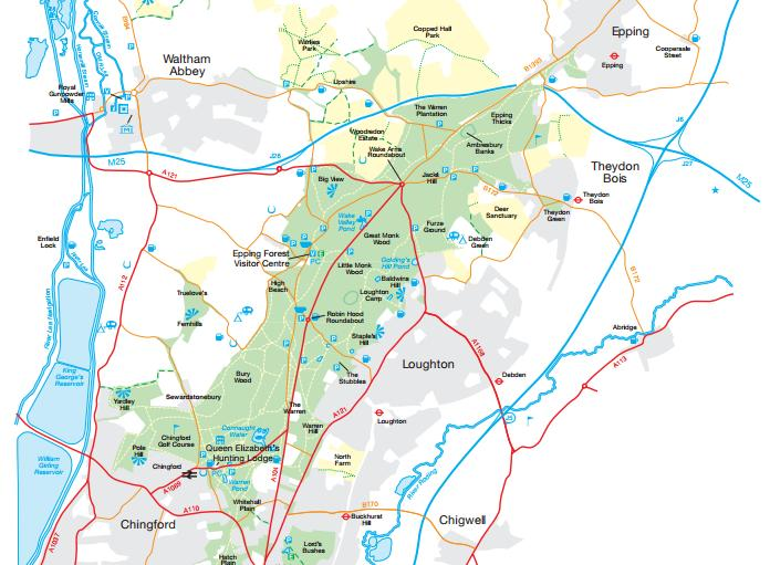 Epping Forest Map Branching Out Project | Out And About With Pickles